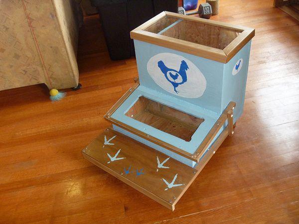 alimentatoare automate albastru cu model