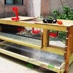 Drevený domček pre pestovanie vtákov
