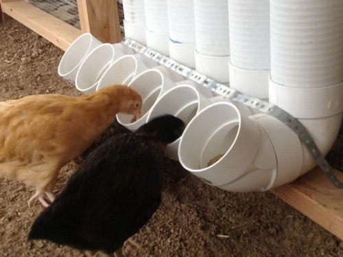 Kŕmidlo pre kurčatá polypropylénových skúmaviek