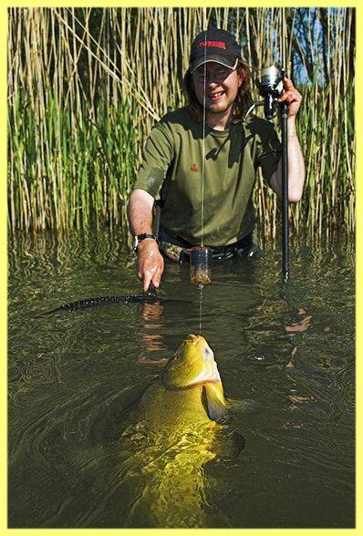 Lieň rybárčenie na pradenie