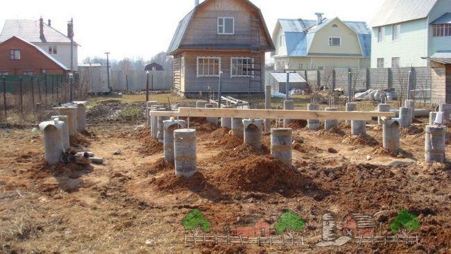 Fundația Pier pentru clădirea din lemn