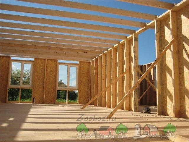 de perete grinzi de lemn sub o acoperire