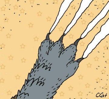 Zvyk trhať mačka tapety