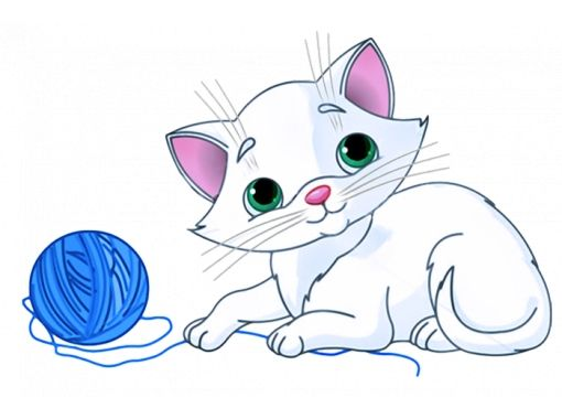 Cat obrázky pre deti ťahané 3
