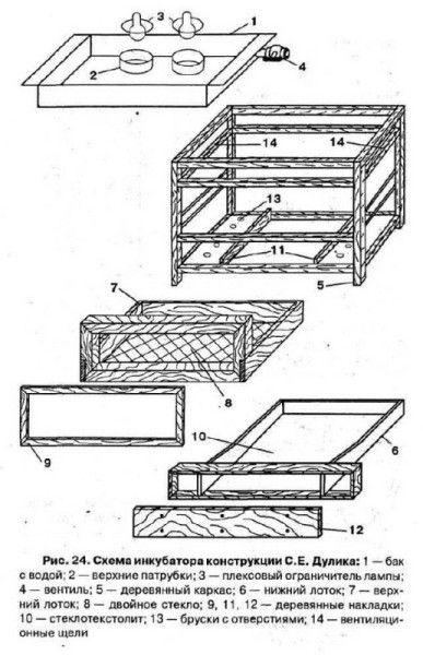 Desenarea un incubator de casa pentru prepelițe