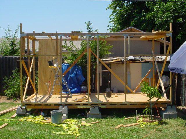 Construcția cadru de lemn coteț