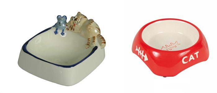 Keramické misky pre mačky