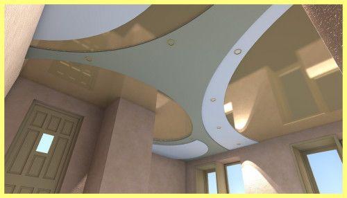 Spuštenog plafona u kuhinji dizajn fotografija: vrste stropova