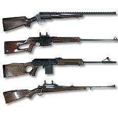 Glatkom lovačkog oružja, užlebljenom