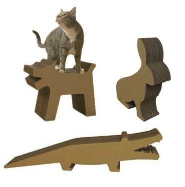Škrabanie miest pre mačky z kartónu