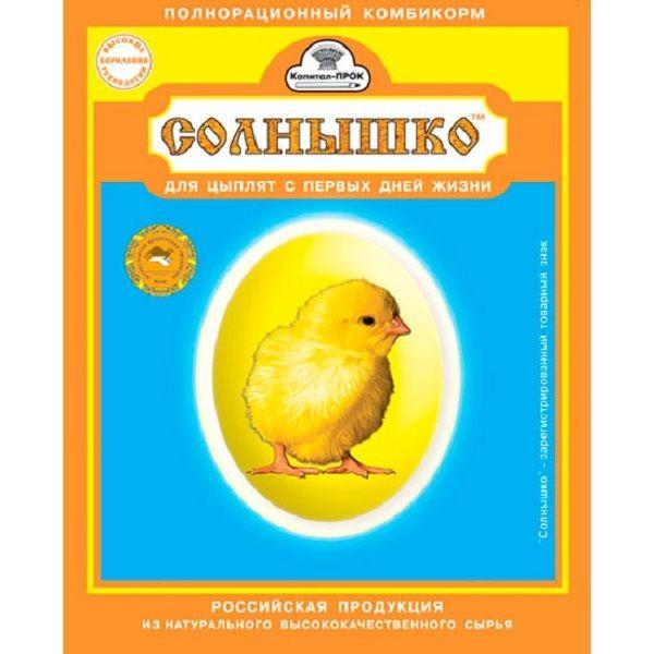krmivá pre kurčatá štítku Sun