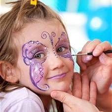 Brojke na licu djece, dječje tetovaže akvagrim