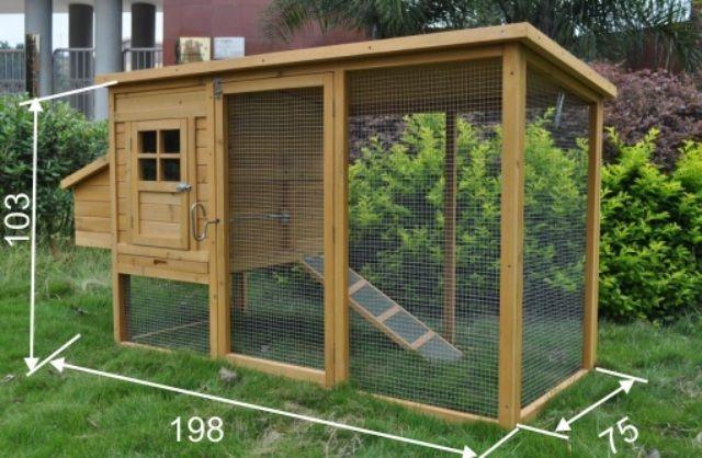 Opțiunea mici coop de vară de casă la cabana lor de vara cu dimensiuni