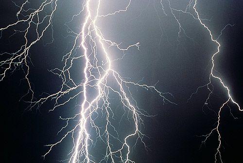 Noapte. Furtună. Foto, Foto
