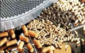 Zloženie granulovaného krmiva pre králiky, ošípané, kurčatá a kravy sa skladá z hrubých zŕn, ...
