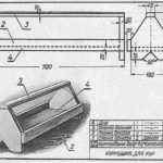 Desen și dimensiuni pentru jgheabul furaje
