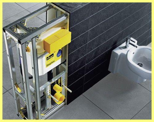 Instaliranje viseću wc školjku sa rukama: fotografija
