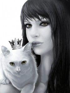 Жена и котка